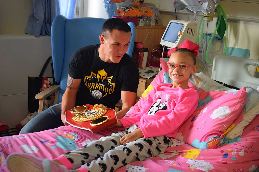 Ruby meeting boxer Josh Warrington