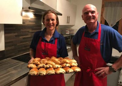Carol and Tony with Croissants. Mmmm!!
