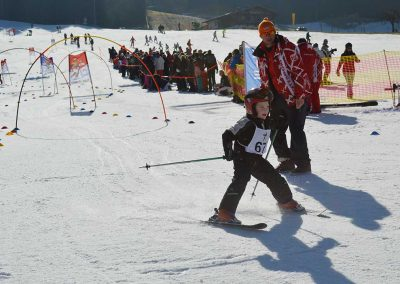 Child skiing on competition day