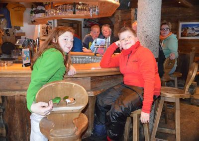 Children having apres ski