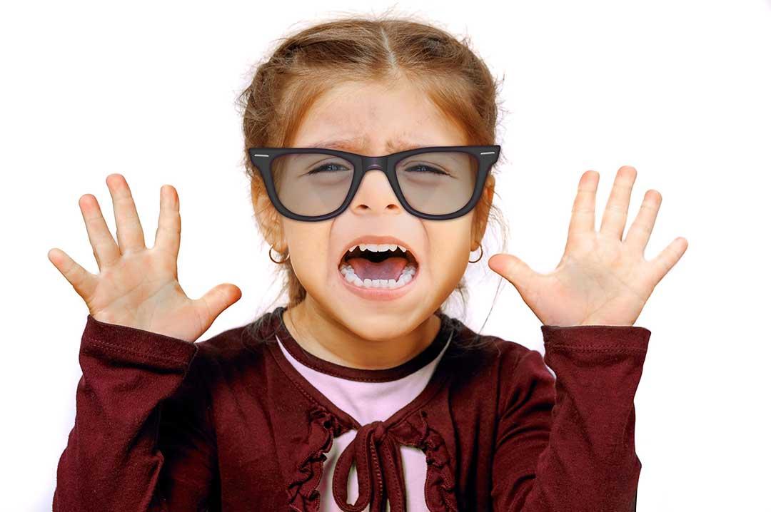 girl having tantrum