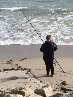 Spot of beach casting for Jim
