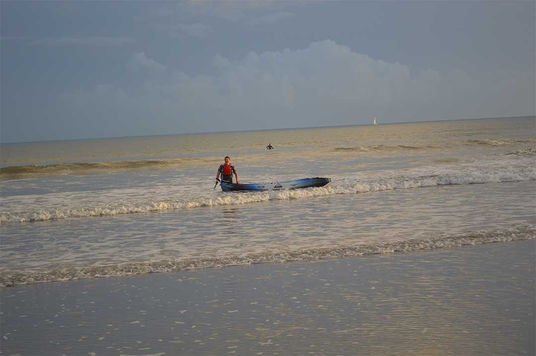 Jim enjoying the sea