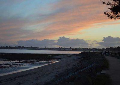 sunset over Ile-Tudy