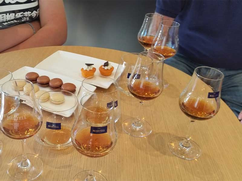 The after tour Cognac tasting
