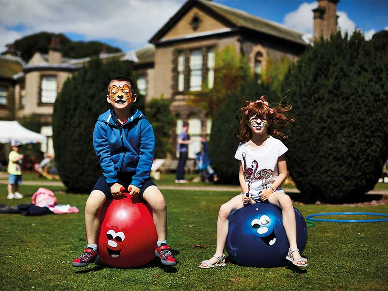 Children playing at Lotherton Hall