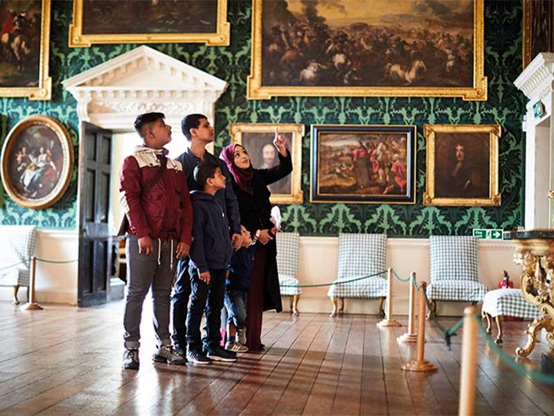 Family at Temple Newsam House