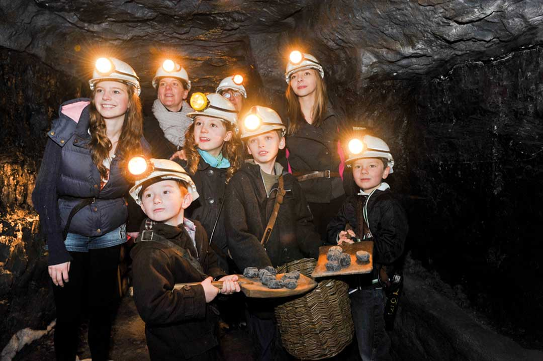 Visitors to ncm down the mine